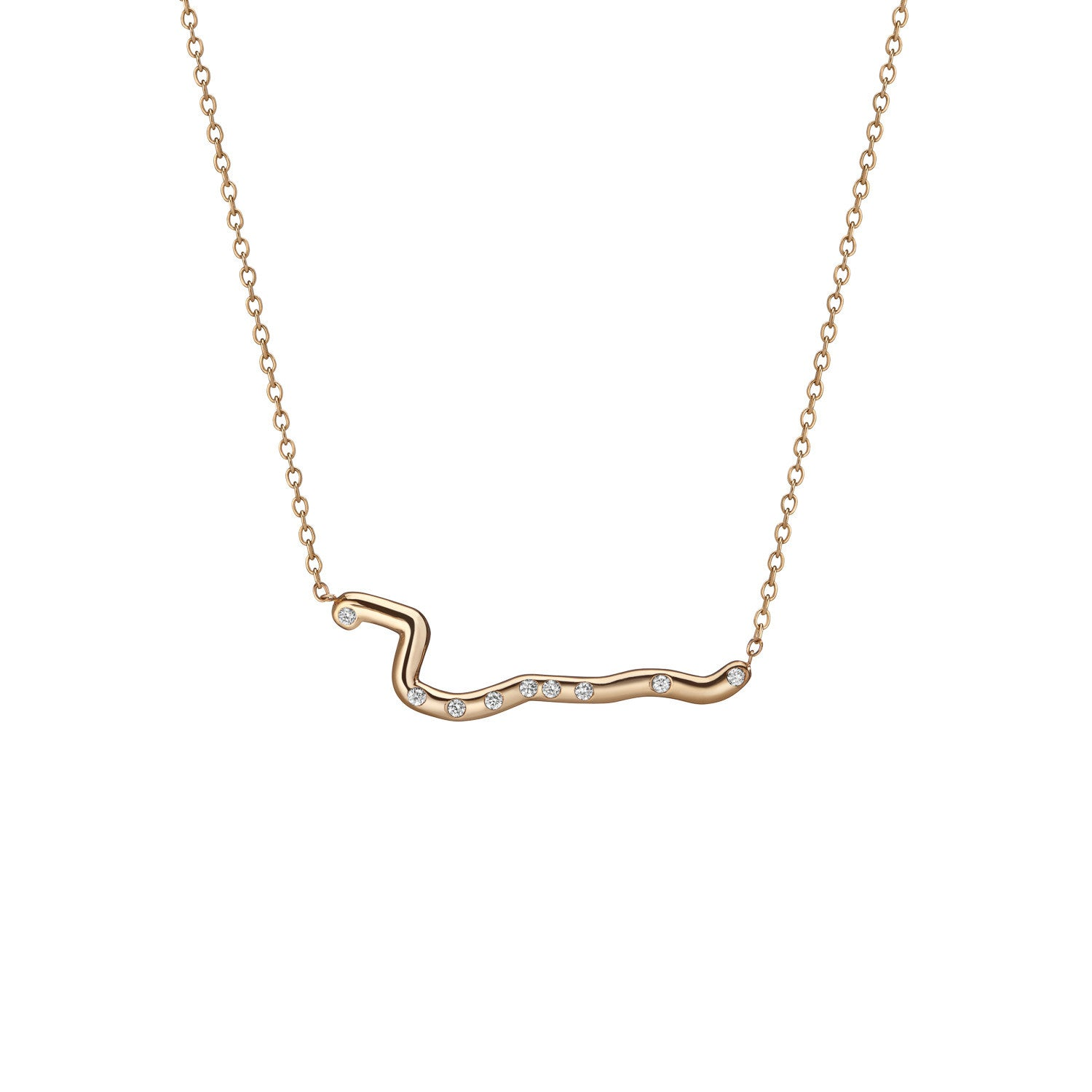 14K Gold Subway Necklace - Harlem to South Ferry