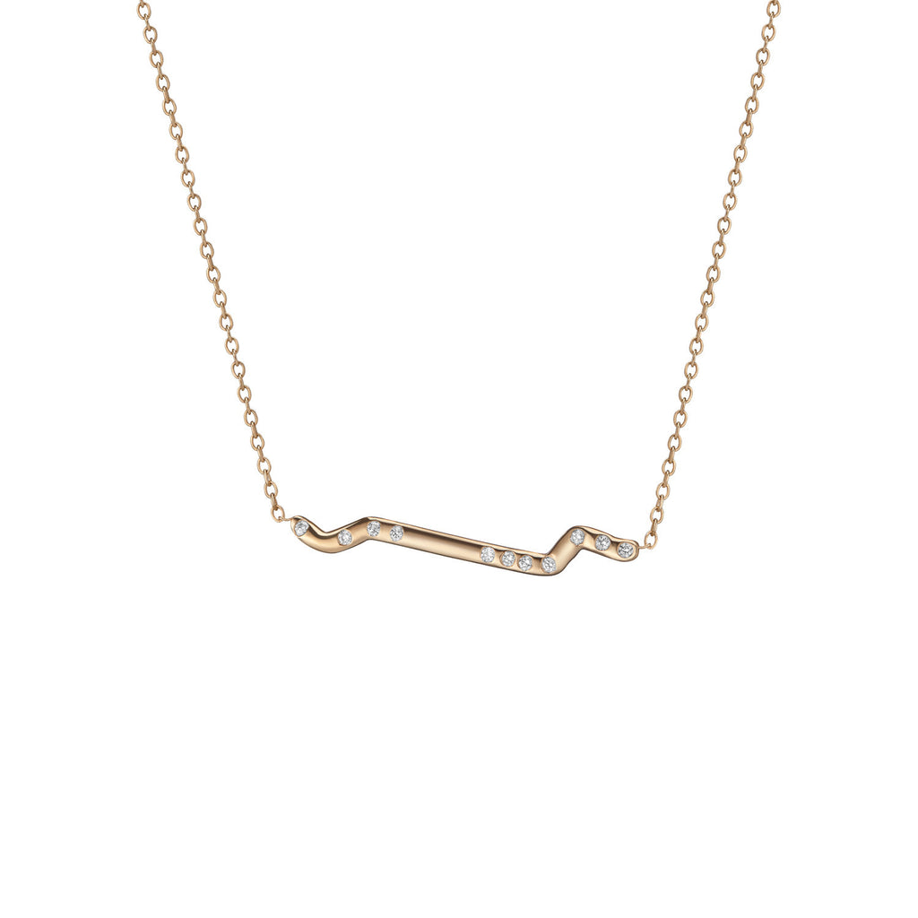 14K Gold Subway Necklace - Inwood to World Trade Center