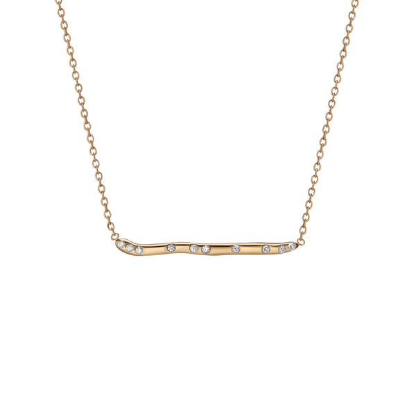 14K Gold Subway Necklace - Yankee Stadium to Wall St