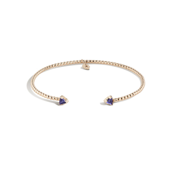 14K Gold Birthstone Cuff No. 2