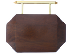 Afrodet wooden clutch (dark stain)