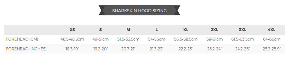 Sharkskin Hood Sizing