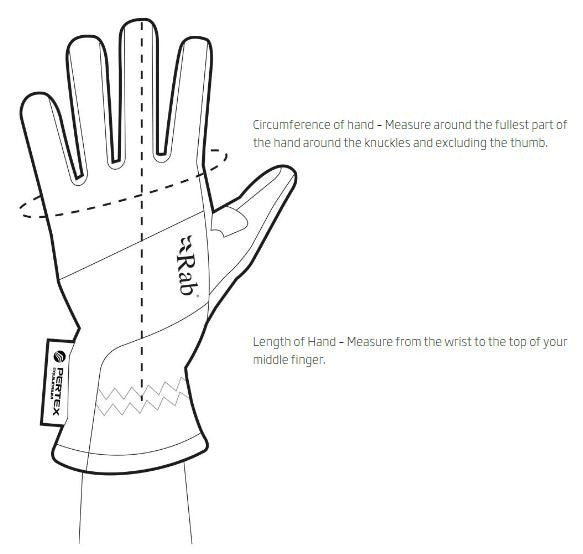 Women's RAB Gloves Size Guide