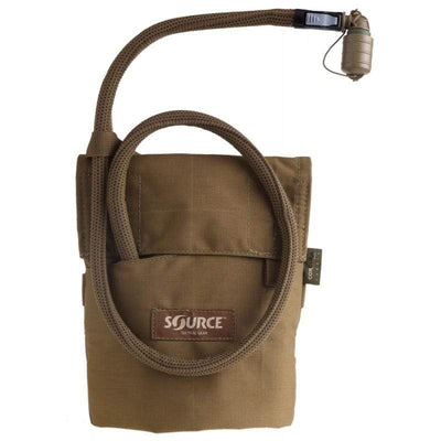 Source Kangaroo 1L Collapsible Canteen with Pouch Coyote