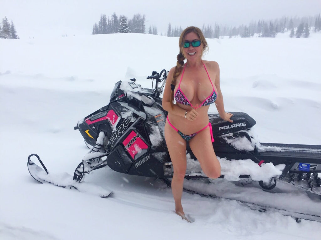 Bikini in the snow (Rockies )