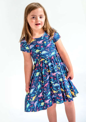 Pre-Order Birthday Special -  Color Dino - Hugs Twirl Dress