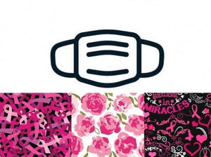 Set 29 - Pink Ribbons & Florals Face Masks 3/Pack