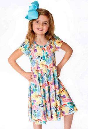 Sparkle Princess Princess Short Sleeve Twirl Dress