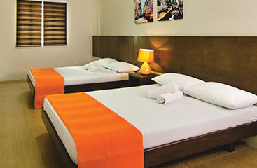 Deluxe family room double beds (new wing) at Metro Deluxe Residences