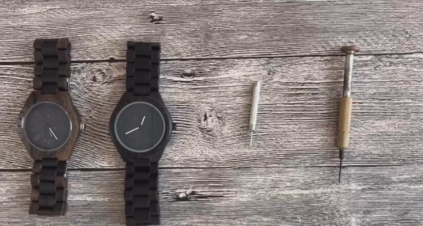 How to Remove Watch Links of Wood Watch Band / Strap Resize Watch Band