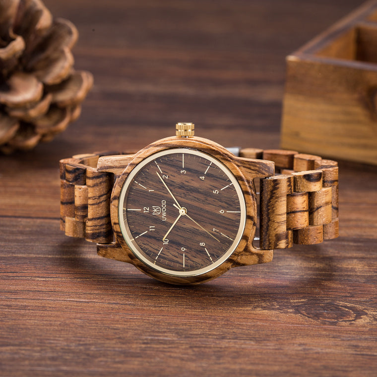 UW1007 Zebra Wood Watch for Men