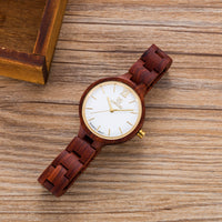 UWH1003 Red Sandal Wood Watch for Women