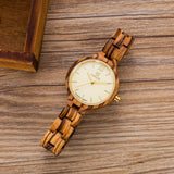 UWH1003 Zebra Wood Watch for Women