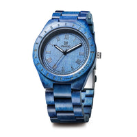 UWH001 Mix Blue Sandal Wood Watch for Men Gift Idea