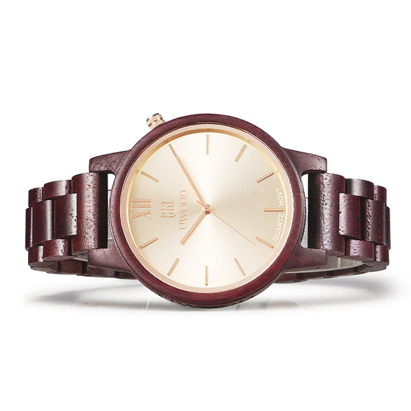 UWH1002 Purple Heart Wood Watch for Men