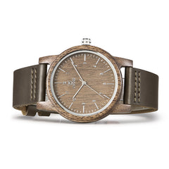 Uwood UWH-1008 Walnut Wood Genuine Leather Strap