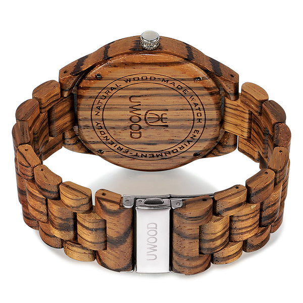 UWH001 Zebra Wood Men's Wooden Watch