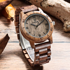 UWOOD UW2075 Walnut Sandal Wood Watch for Men
