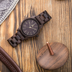 UWH1007 Black Sandal Wood Watch for Men