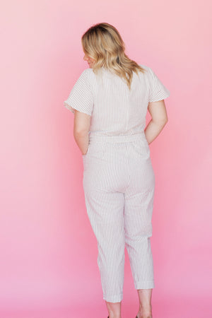 Coleen Striped Jumpsuit by Lettie Boutique