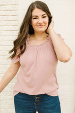 Rosie Ruffled Top in Mauve