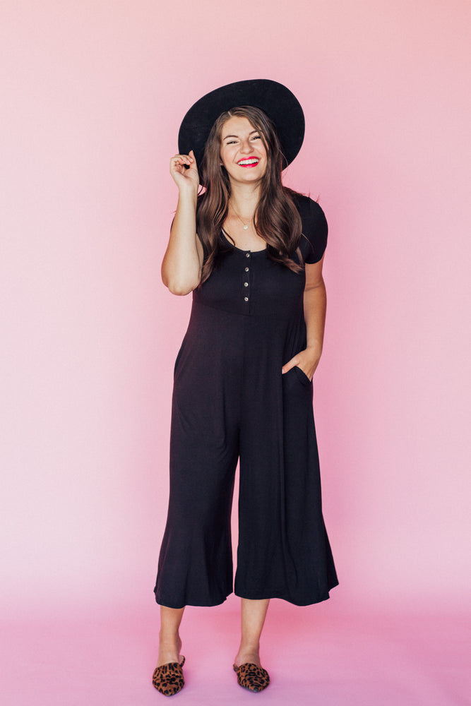 All Day Jumpsuit in Black PREORDER