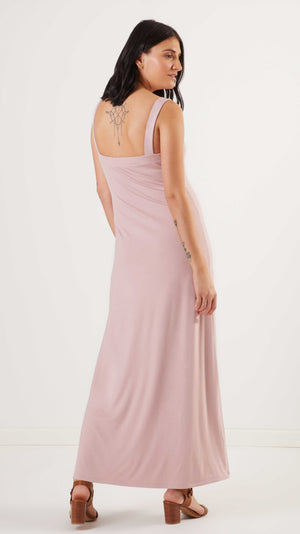Stowaway Collection Cara Maternity Dress in Duty Rose Back View