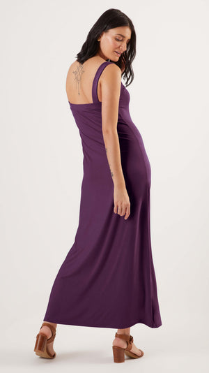 Stowaway Collection Maternity Cara Maternity Dress in Purple - back view