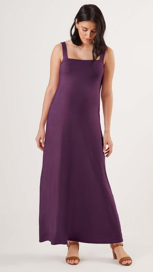Cara Maternity Dress in Purple - front view