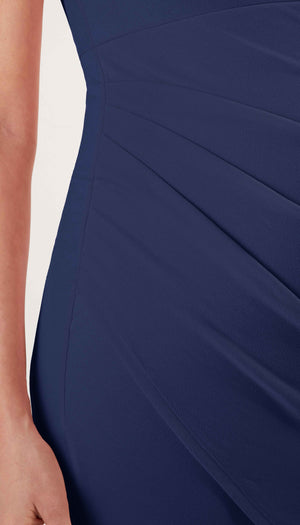 Stowaway Collection Becca Maternity Dress in Navy Side Detail View