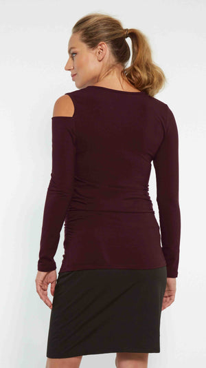 Cold Shoulder Maternity Top