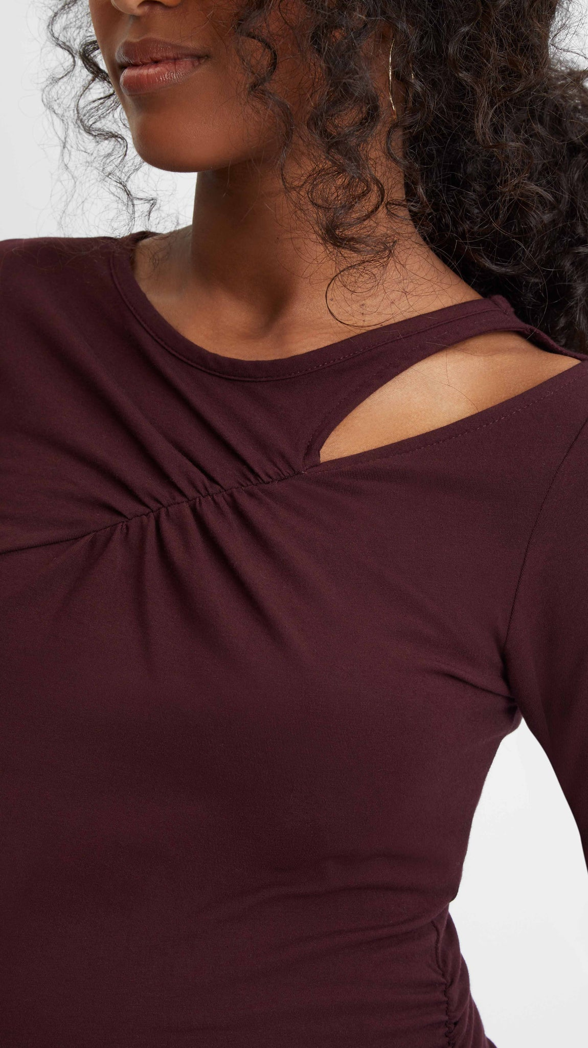 Cross Keyhole Maternity Top