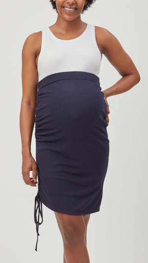 Over Under Rib Maternity Skirt