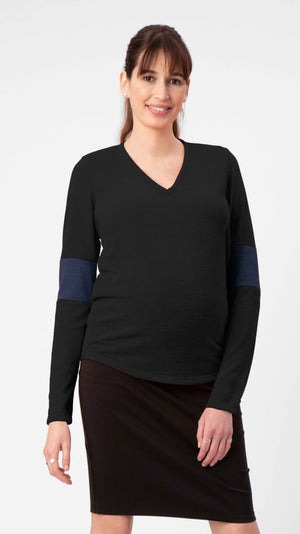 Elbow Cuff Maternity Sweater