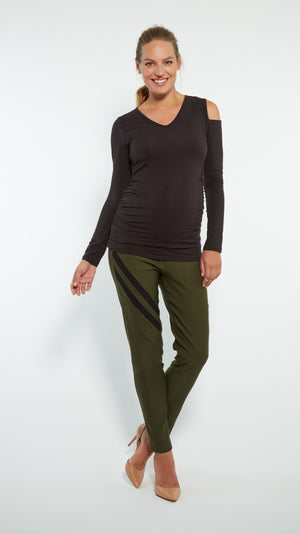 Stowaway Collection Audra Maternity Pant Front Full Length View