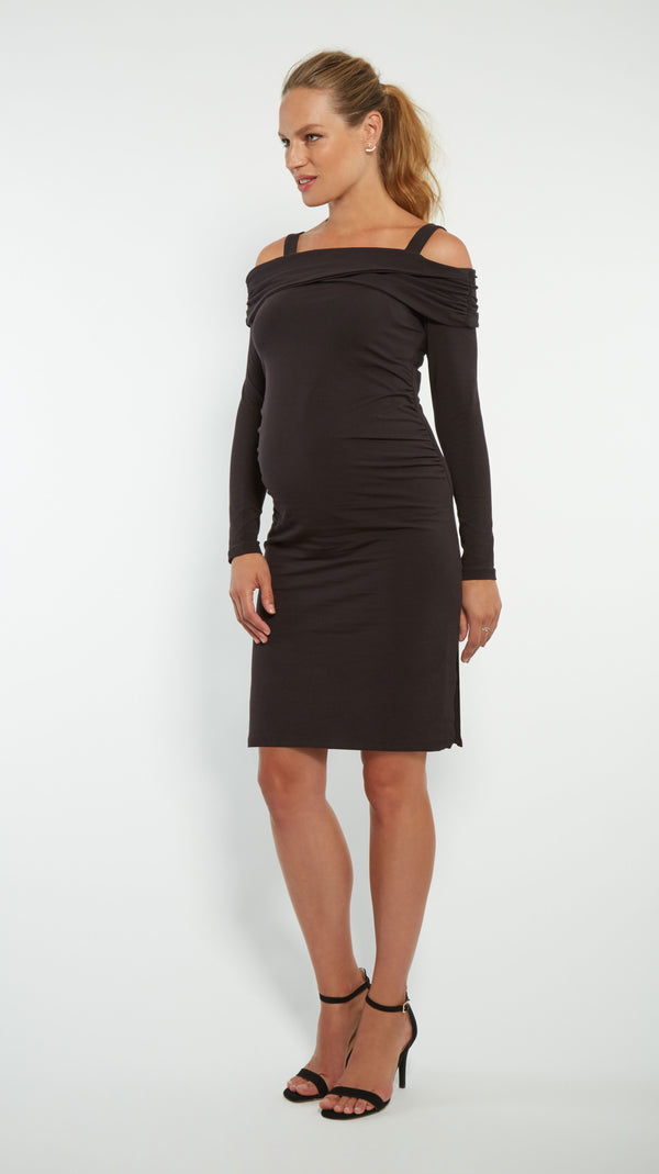Off The Shoulder Maternity Dress