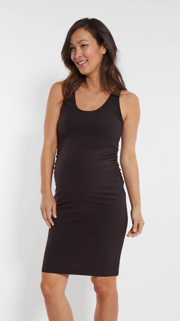 Cross Back Maternity Dress