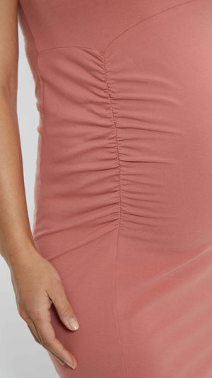 trendy maternity dress with ruching