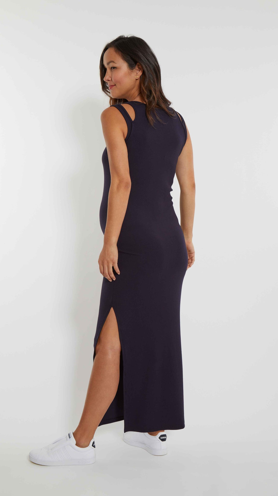 Double Strap Maternity Maxi Dress