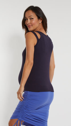Double Strap Maternity Tank