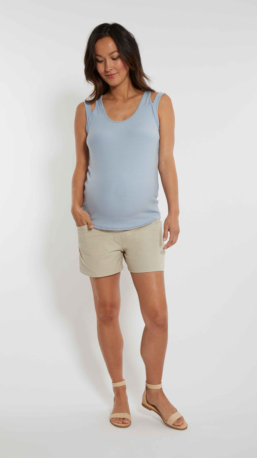 Drawstring Maternity Shorts