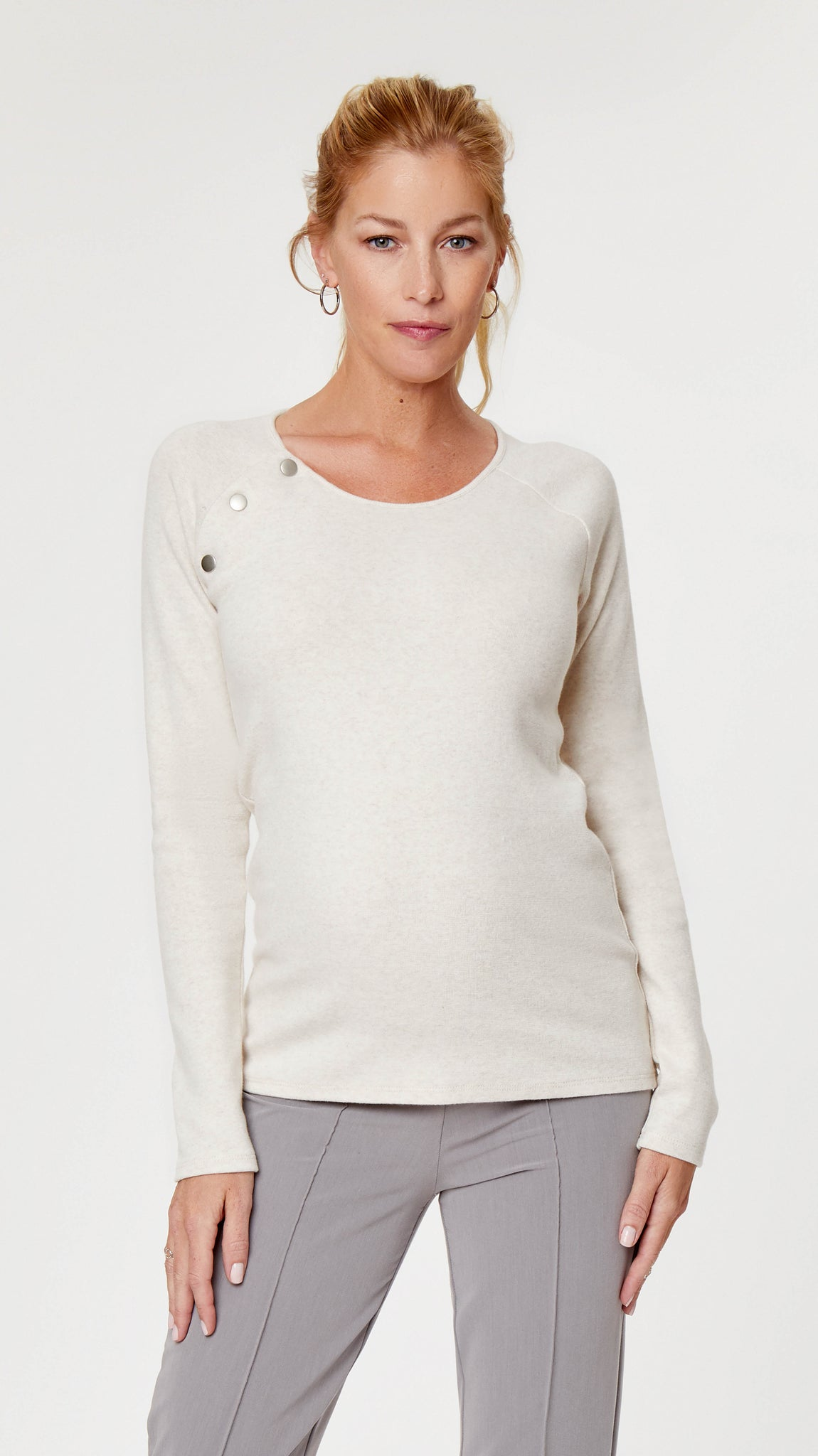 Raglan Snap Maternity & Nursing Sweater