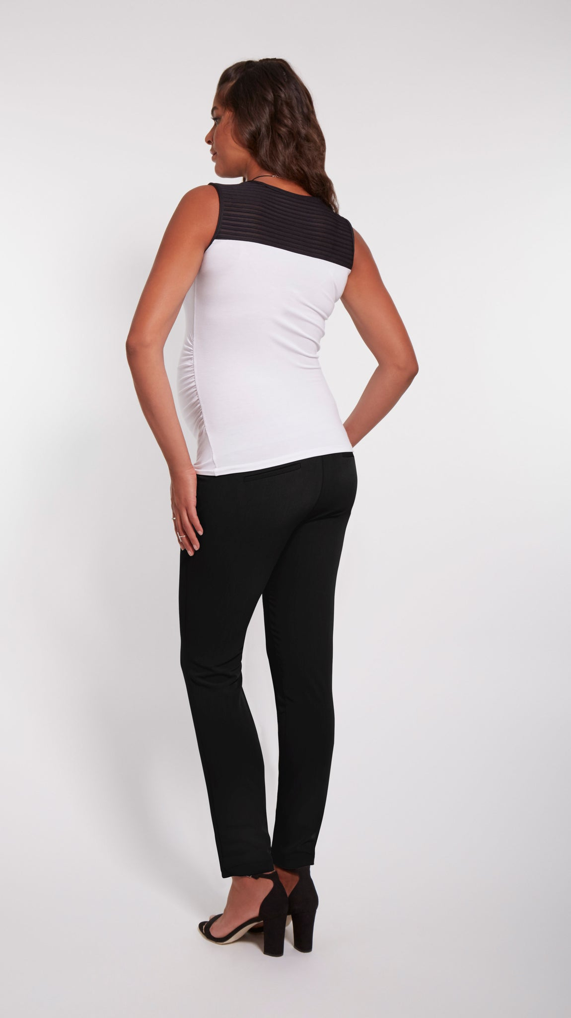 Black & White Contrast Maternity Top