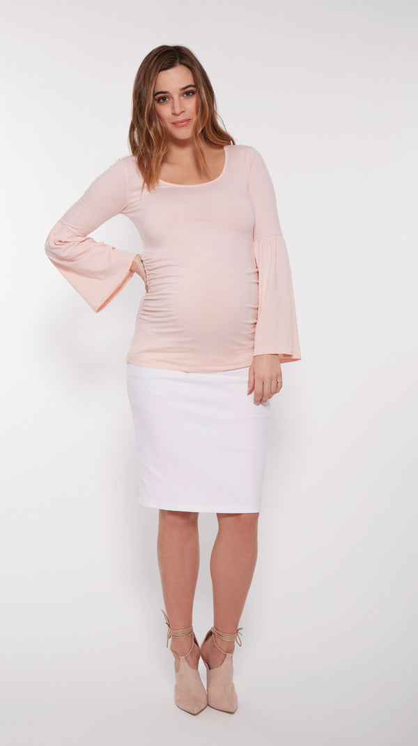 Stretch Denim Maternity Skirt