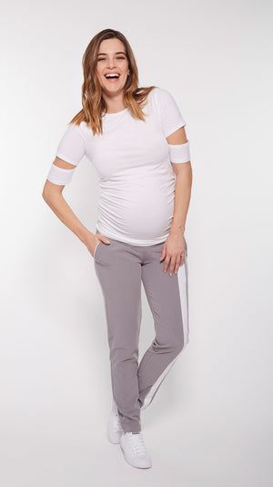 Slit Sleeve Maternity Tee