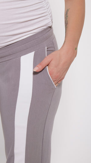 Drawstring Racing Stripe Maternity Pant