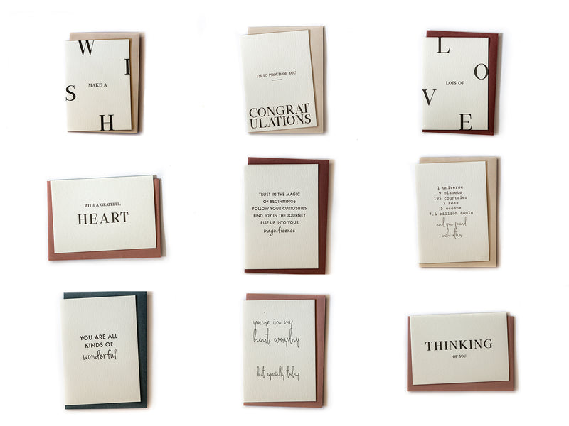 Letterpress Gift Cards Mix Pack