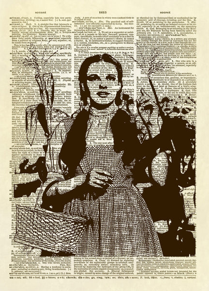 Wizard of Oz Dorothy Dictionary Art Print