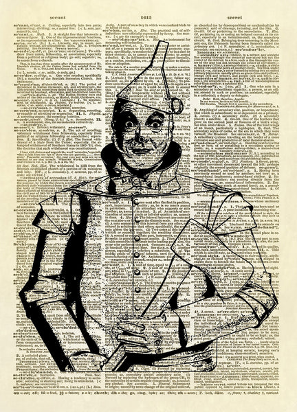Wizard of Oz Tin Man Dictionary Art Print