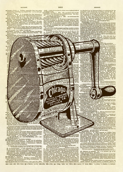 Pencil Sharpener Dictionary Art Print